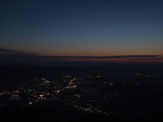 高谷山霧の海展望台日の出前