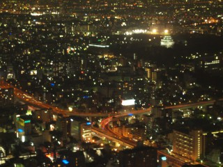 ミッドランドスクエアの夜景 名古屋城