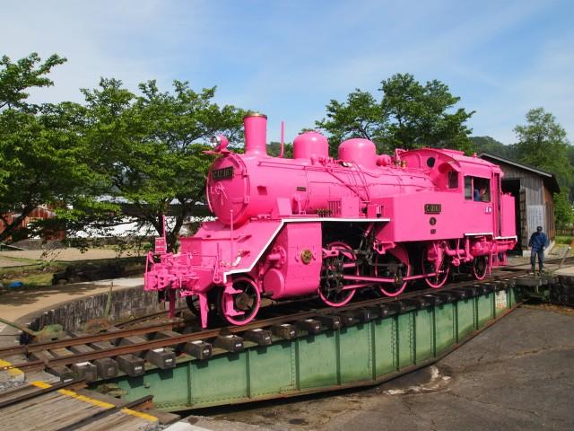 若桜鉄道 C12ピンク 転車台